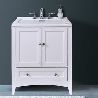 all in one vanity and sink. Shop For Manhattan White 30 5 Inch All In One Laundry Single Vanity Sink
