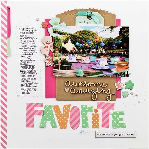 Favorite by Nancy Damiano #SCTMagazine #scrapbooking #layout