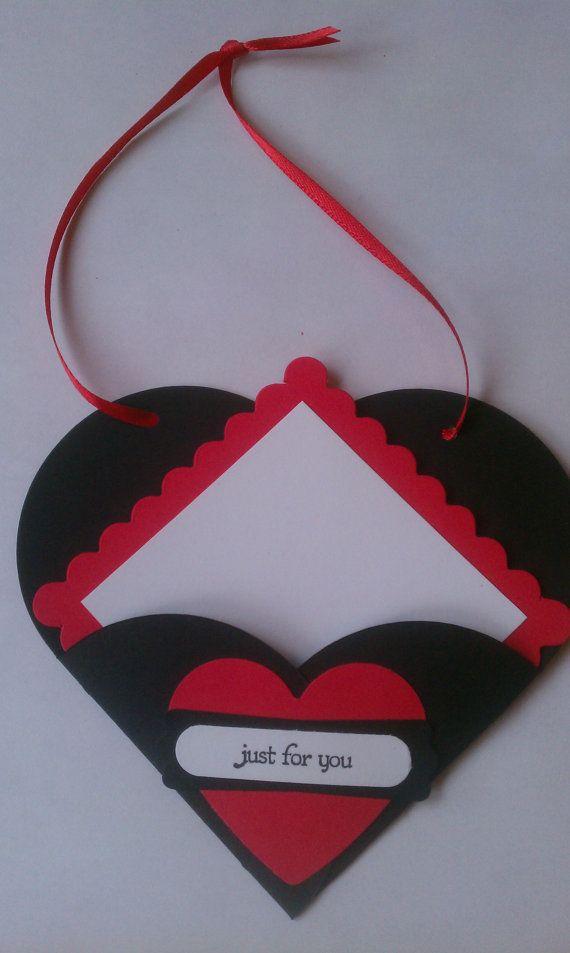 Unique card love notes Pull apart heart card por CardsbyDeanna