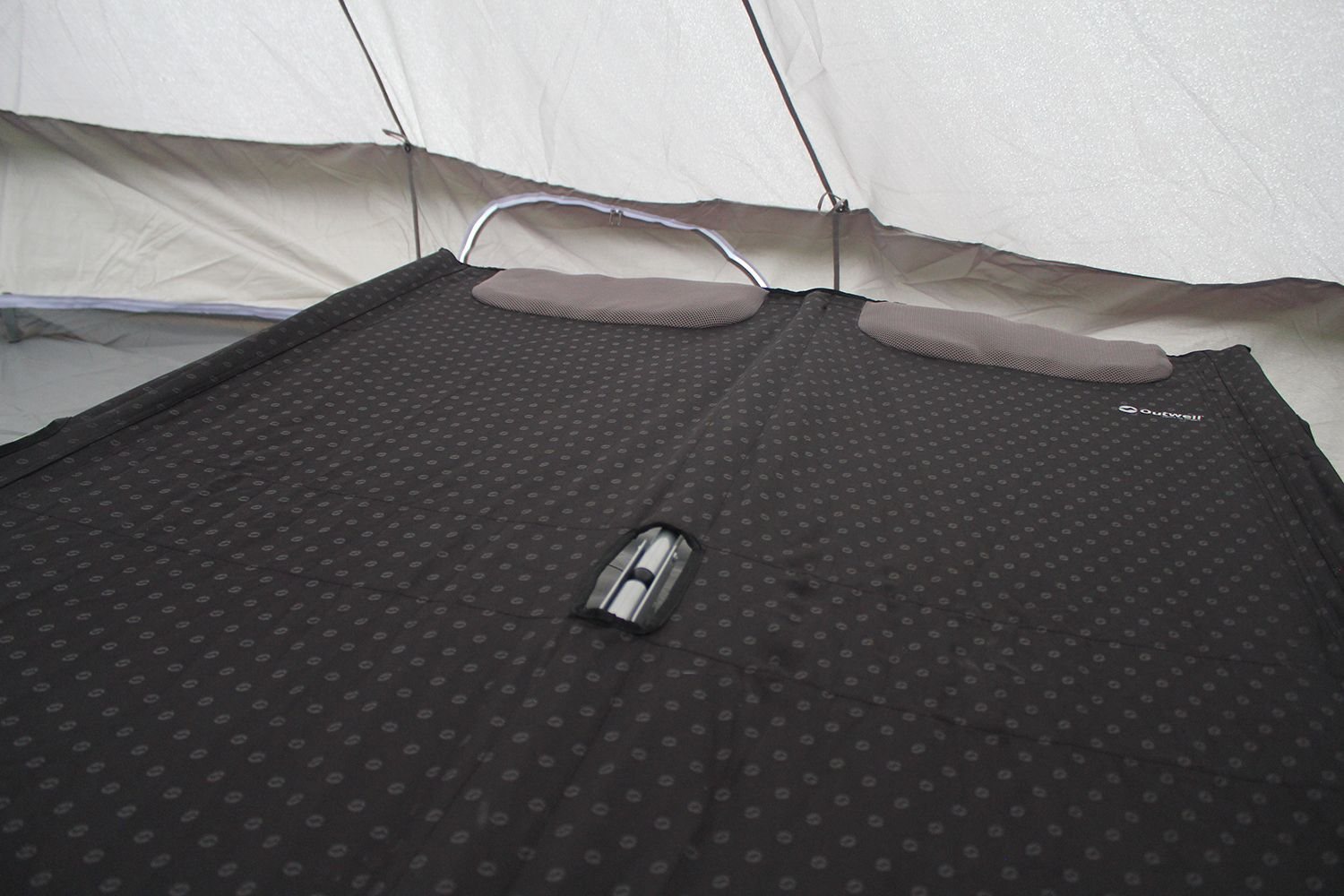 Outwell Centuple Double Camp Bed inside the tent Camping