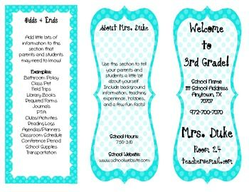 customizable classroom brochure the perfect back to school handout
