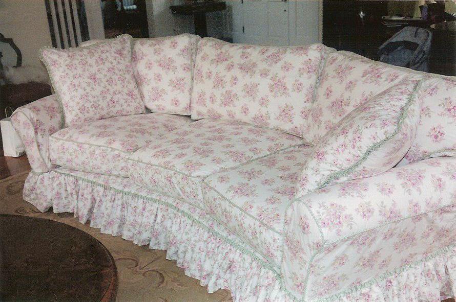 Sofa Slipcover Made From Shabby Chic Duvet Covers From Target Shabby Chic Slipcovers Shabby Chic Furniture