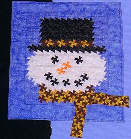 Handcrafts By Jenniefer  Quilting Sewing  Pattern Christmas SNOWMAN TWIST