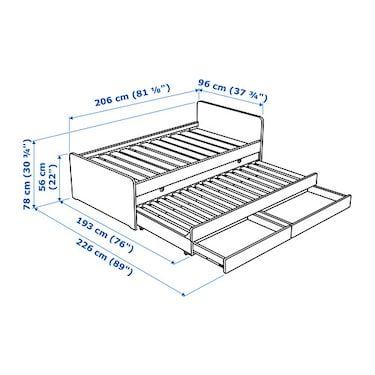 Cama Nido Sl 196 Kt Blanco In 2019 Construir Ikea Bed