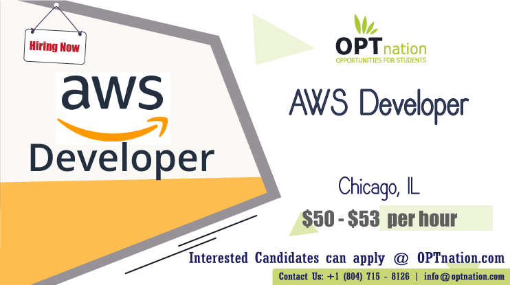 We're Hiring AWS Developer in Chicago, IL. Build your