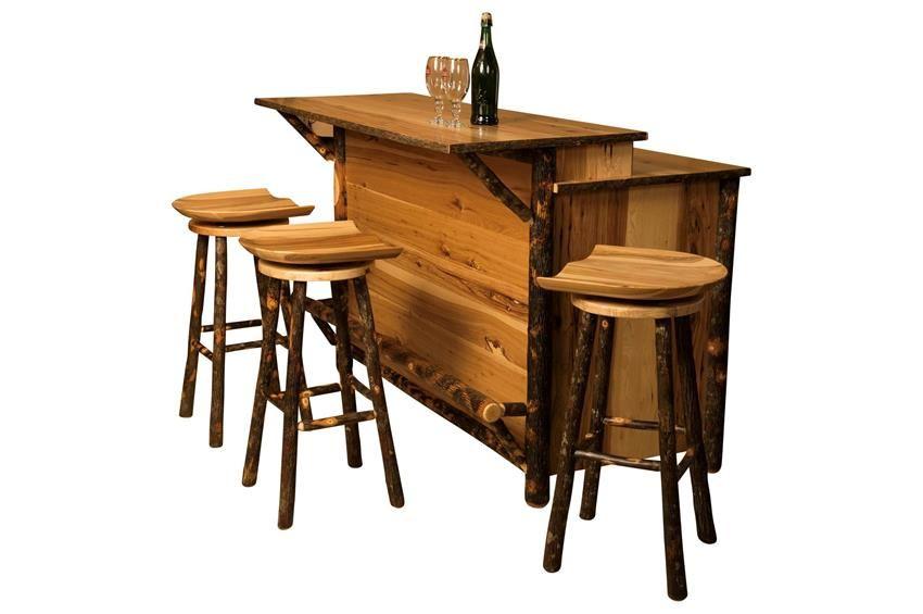 amish rustic hickory bar kitchen island amish rustic hickory bar kitchen island   bar kitchen bar and      rh   pinterest com