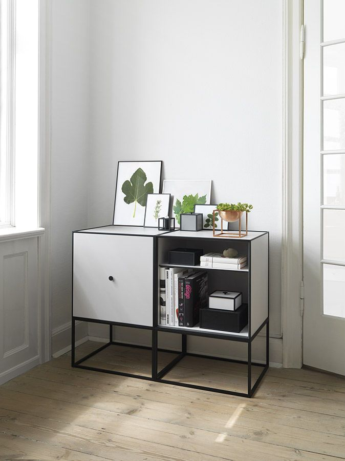 hochbeinig sideboard skandinavisches design aus eiche aus metall frame ss16 by lassen. Black Bedroom Furniture Sets. Home Design Ideas