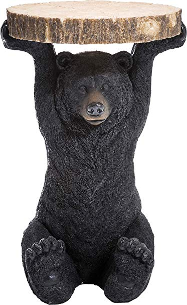 Kare Design Side Table Animal Bear O40cm Small Round Wooden