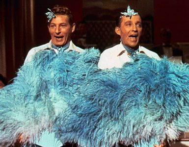 """Danny Kaye and Bing Crosby in """"White Christmas.""""- It wouldn't be Christmas without it."""