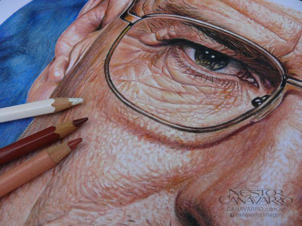 Breaking Bad Hiperrealism In Color Pencils By Néstor Canavarro - Amazing hyper realistic pencil drawings celebrities nestor canavarro