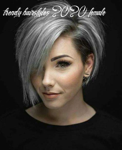8 Trendy Hairstyles 2020 Female In 2020 Short Grey Hair Thick Hair Styles Hair Styles