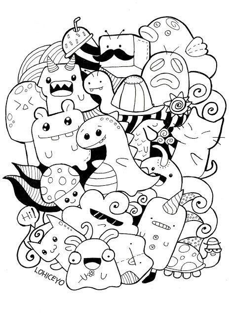 Free Kawaii Doodle Printable Kawaii Doodles Doodle Drawings