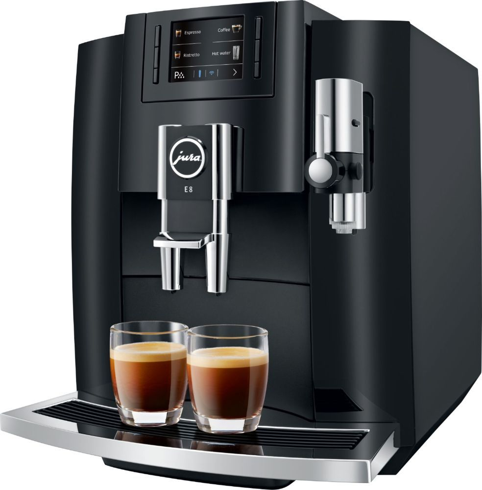 Jura e line coffee maker and espresso machine piano black