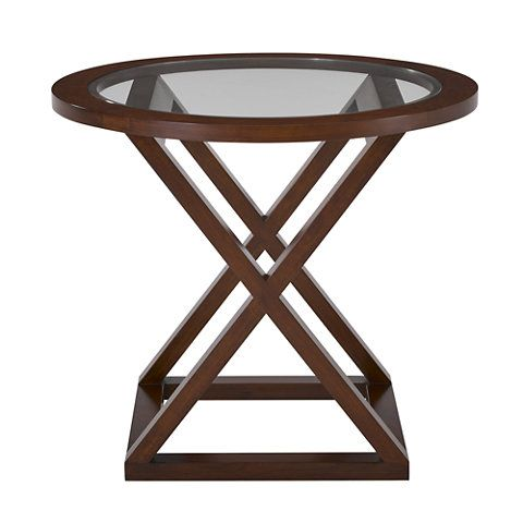 Jamaica Side Table in Modern Hollywood Finish  Occasional