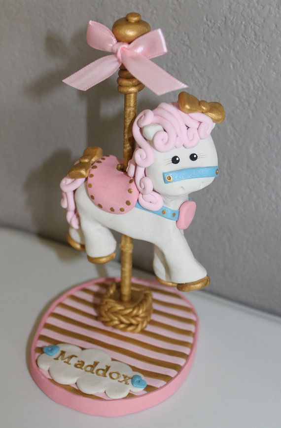 Custom Carousel Horse Cake Topper For Birthday Or Baby By