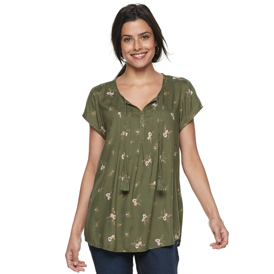 72a0e7a3679057 Women's SONOMA Goods for Life™ Pintuck Tee | Products | Sonoma goods ...