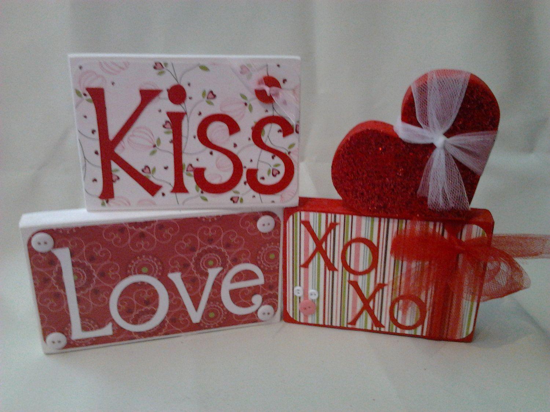 XOXOXOXO Holiday crafts, Valentine, Wood blocks