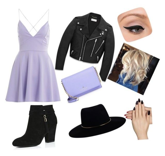 """""""Untitled #2"""" by yllillv on Polyvore featuring AX Paris, River Island, Yves Saint Laurent, Kate Spade, Zimmermann, LORAC and Static Nails"""