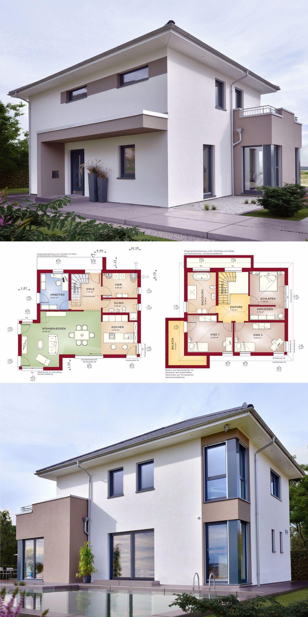 Stadtvilla Neubau Modern Mit Walmdach Architektur Erker Anbau Haus Bauen Grundriss Einfam In 2020 Prefabricated Houses Building A House Roof Architecture