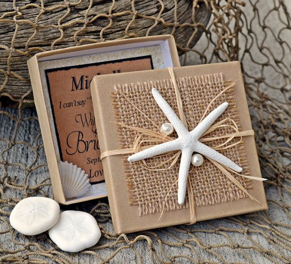 Bridesmaid Gifts Beach Wedding: Will You Be My Bridesmaid Beach Theme Boxed Invite By