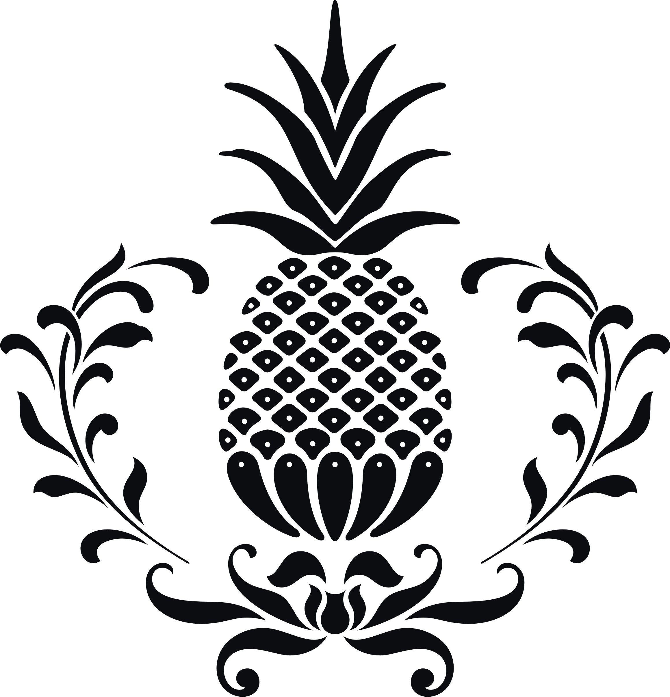 hospitality pineapple clip art || clipart panda | DIY ... for Clipart Pineapple Black And White  303mzq