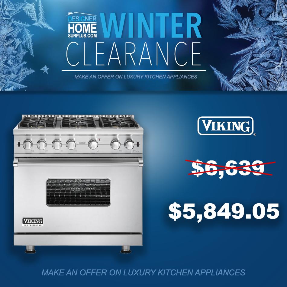 Clearance Sale on High-End Appliances. Viking, U-Line, Bertazzoni ...