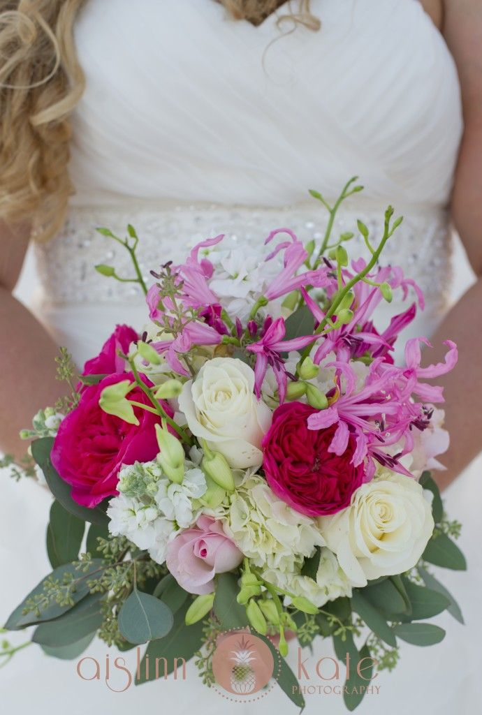 Pink Bouquets Wildflower Bouquet Pensacola Wedding Photographer