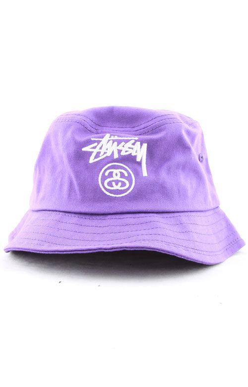 26e4899ba33f94 Stussy, SU15 Stock Lock Bucket Hat - Purple | Head case | Hats ...
