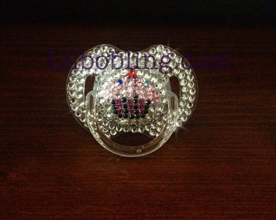 Avent Bling Pacifier Cupcake on Etsy, $25.00