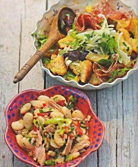 Brotsalat mit Fenchel & Salami – Weißer Bohnensalat mit Thunfisch – Tanja Dusy