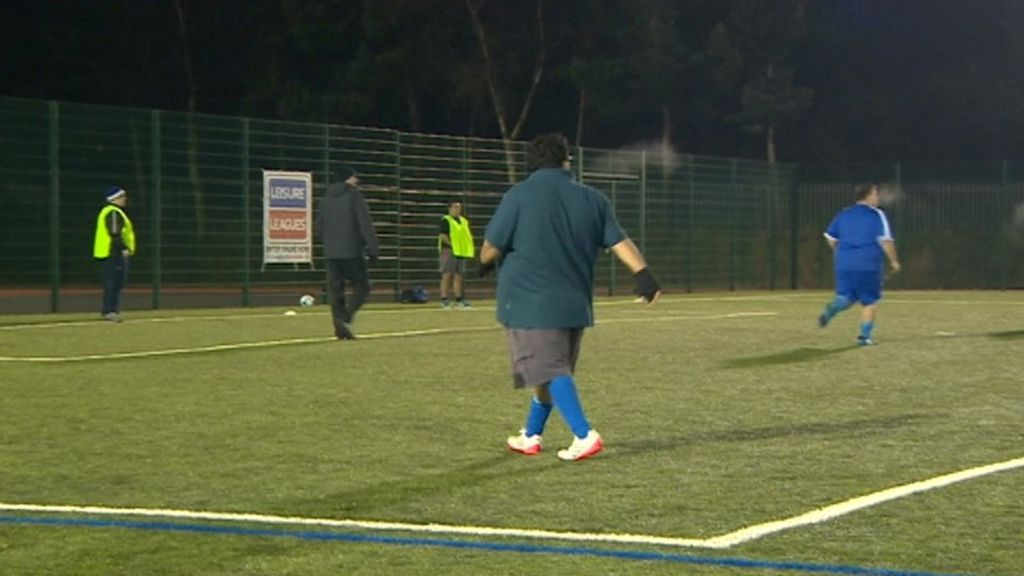 The football league for overweight men Football league