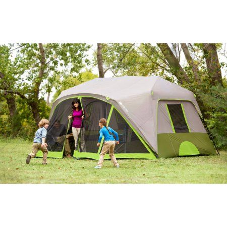 Ozark Trail 9 Person 2 Room Instant Cabin Tent With Screen Room Walmart Com In 2021 Cabin Tent Family Tent Camping Tent