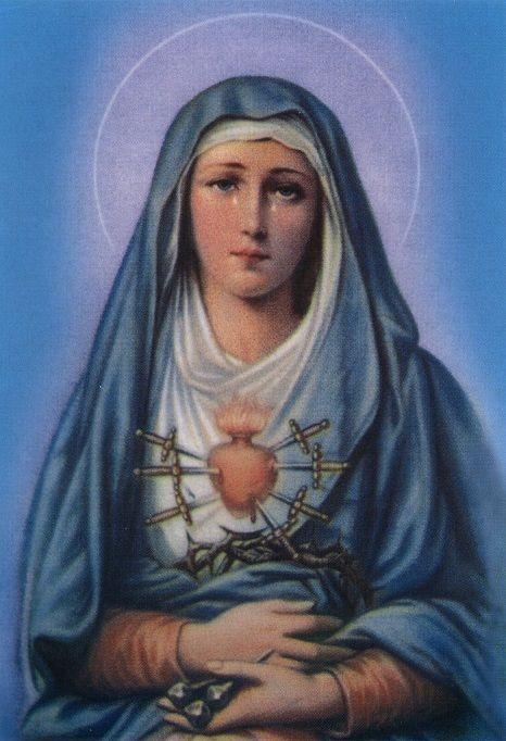 7 Schmerzen Mariens Schmerzhafte Maria Mutter Gottes Jesus - Image Holy Mother | eBay