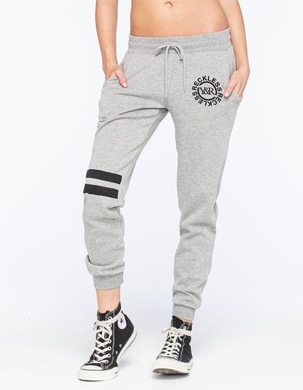 Young & Reckless Deepcutt Womens Jogger Pants Gray  In Sizes