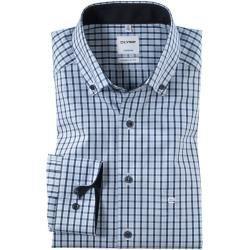 Photo of Olymp Tendenz Hemd, modern fit, Button-down, Bleu, 44 Olymp