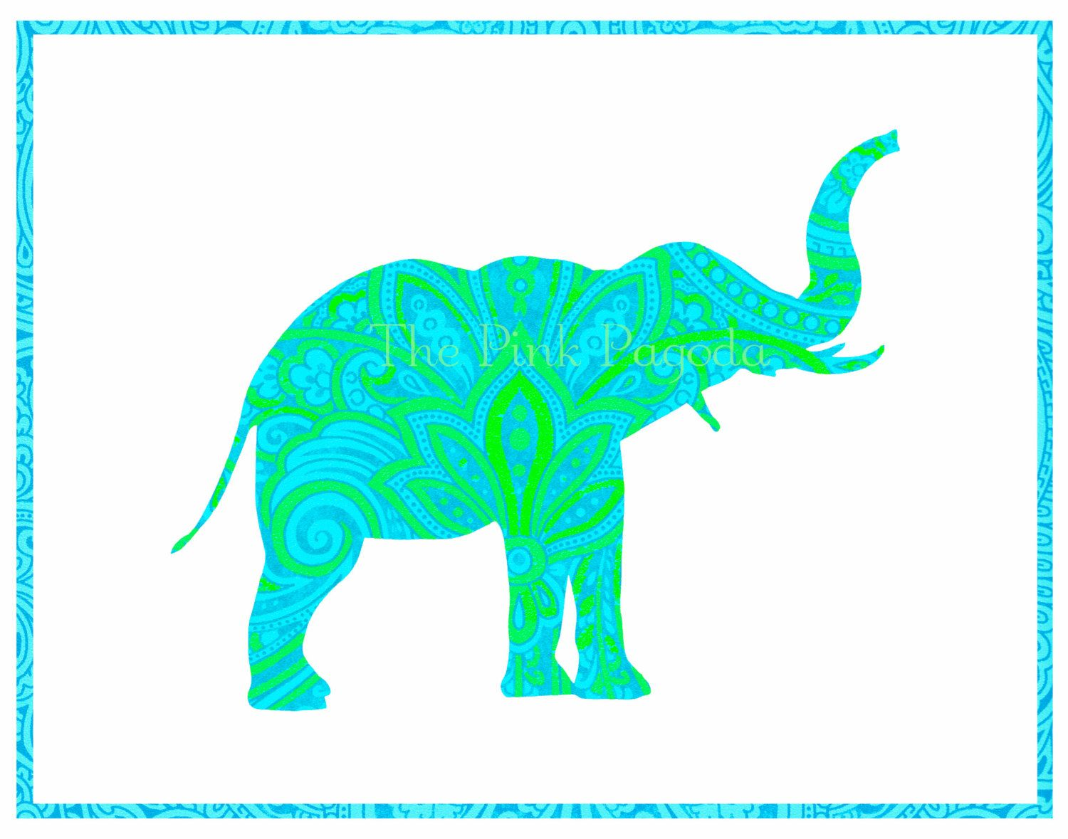 elephant outline trunk up - Google Search | Animals ...