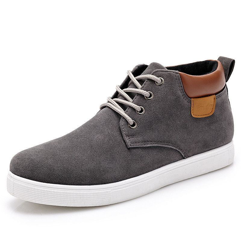 Unisex Quality Suede Sneakers Fashion Skate Shoes Low Top Lace Up Trainer Shoes