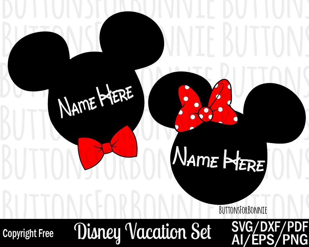 Disney Vacation Svg Disney Cruise Svg Mickey Mouse Svg Minnie
