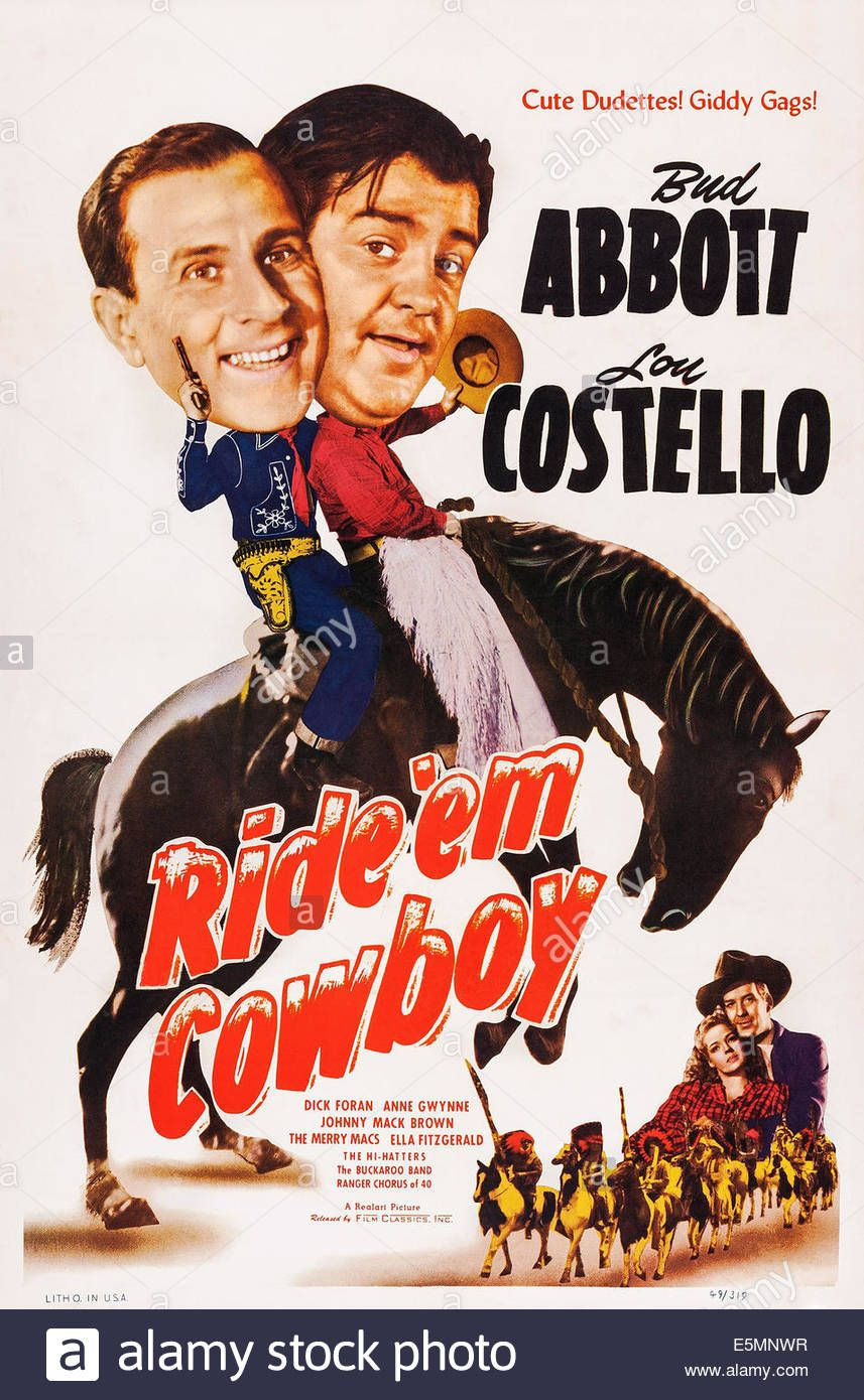 Ride 'em Cowboy, Us Poster, Top From Left: Bud Abbott, Lou
