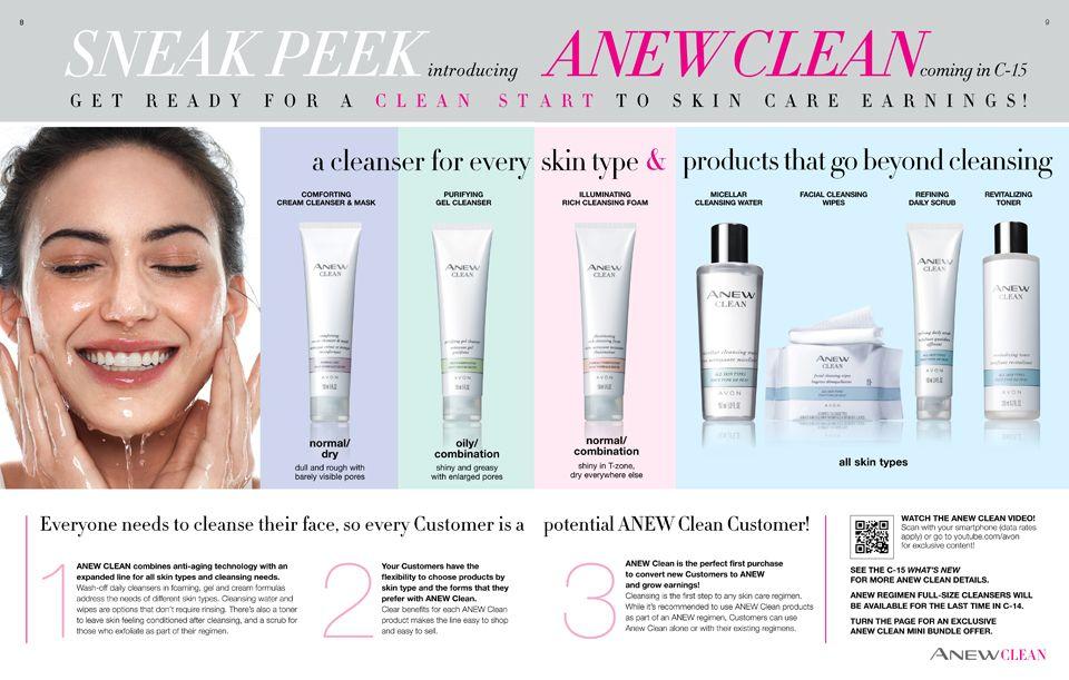 Shop brochure Facial wipes, Avon, Gel cleanser