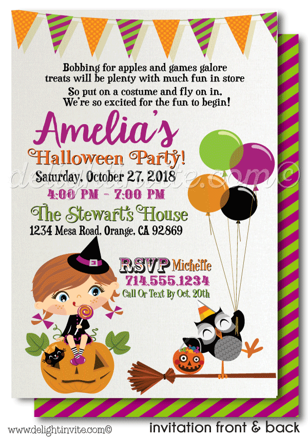 Kids Halloween Costume Party Invitation Printable - Click Image to ...