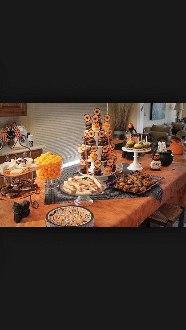 Halloween party food #halloween #snacks #table