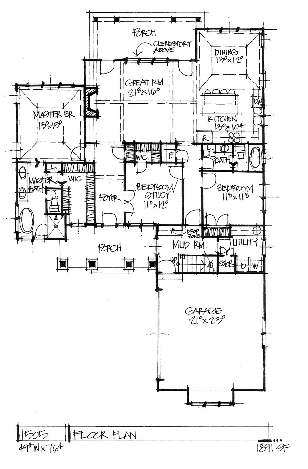 House Plan 1505 One Story Craftsman Energy Efficient House Plans House Plans Home Design Floor Plans