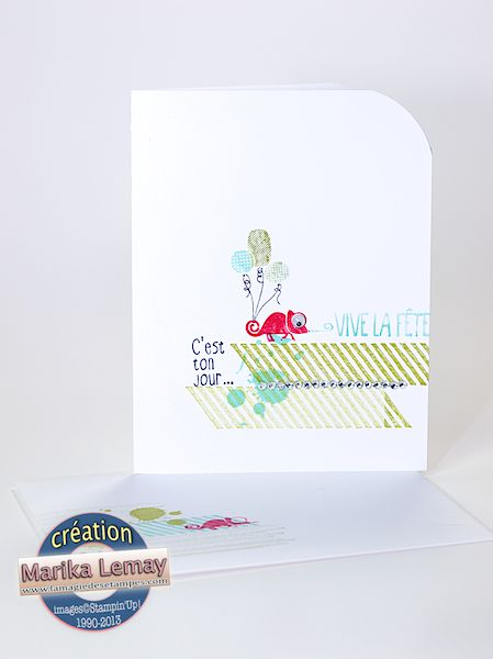 La magie des étampes - Cartes - Scrapbooking - Stampin'Up, one layer card, clean and simple
