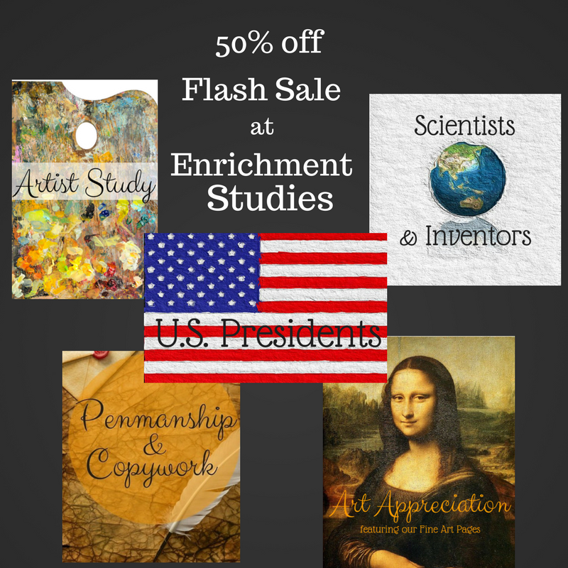Flash sale 50 off today only take advantage of enrichment studies science history art online courses and more rent or purchase curriculum at yellow house book rental fandeluxe Gallery