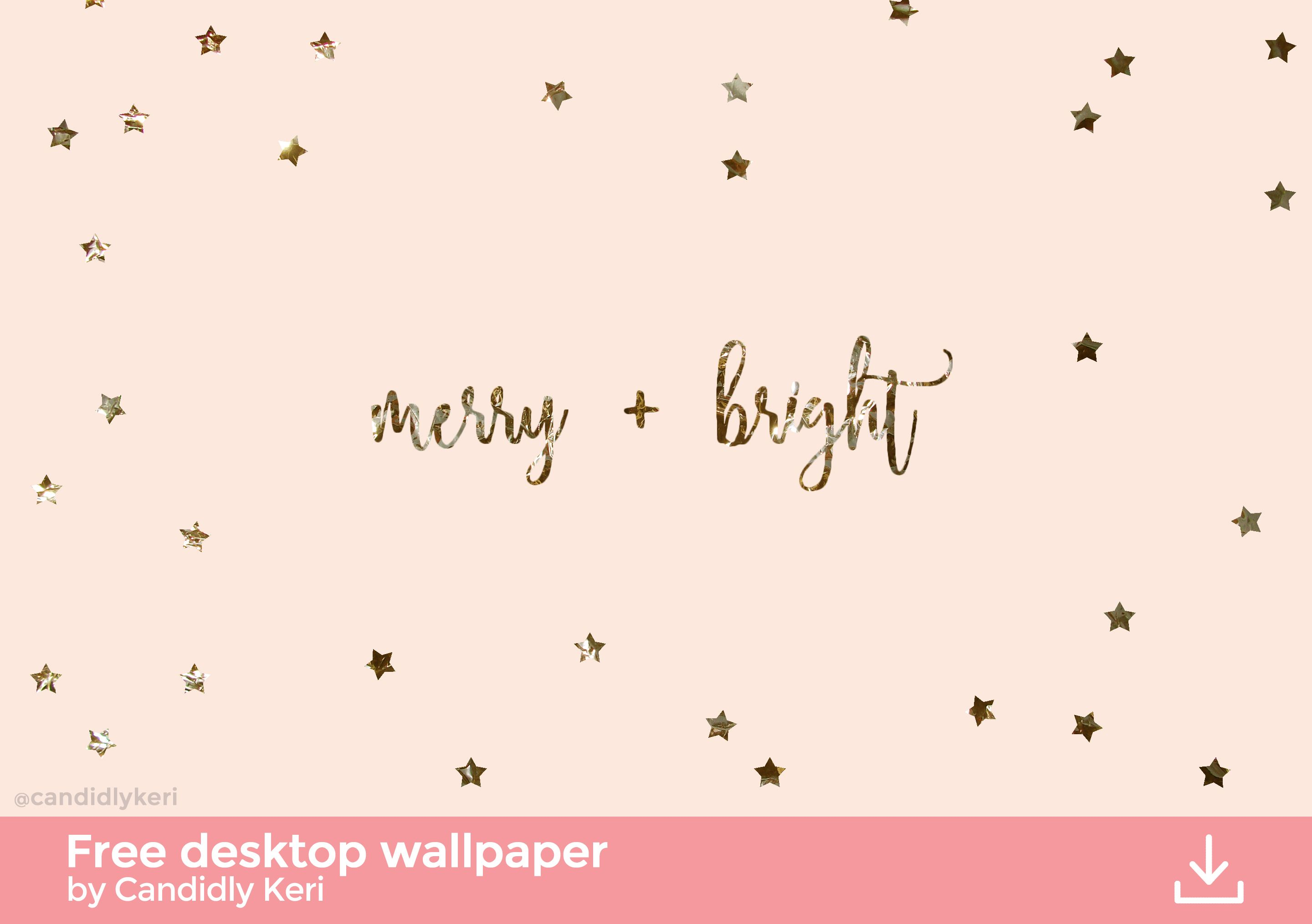 Merry And Bright Gold Foil Pink Stars Background Wallpaper You Can Download For Free Christmas Desktop Wallpaper Christmas Desktop Christmas Background Desktop
