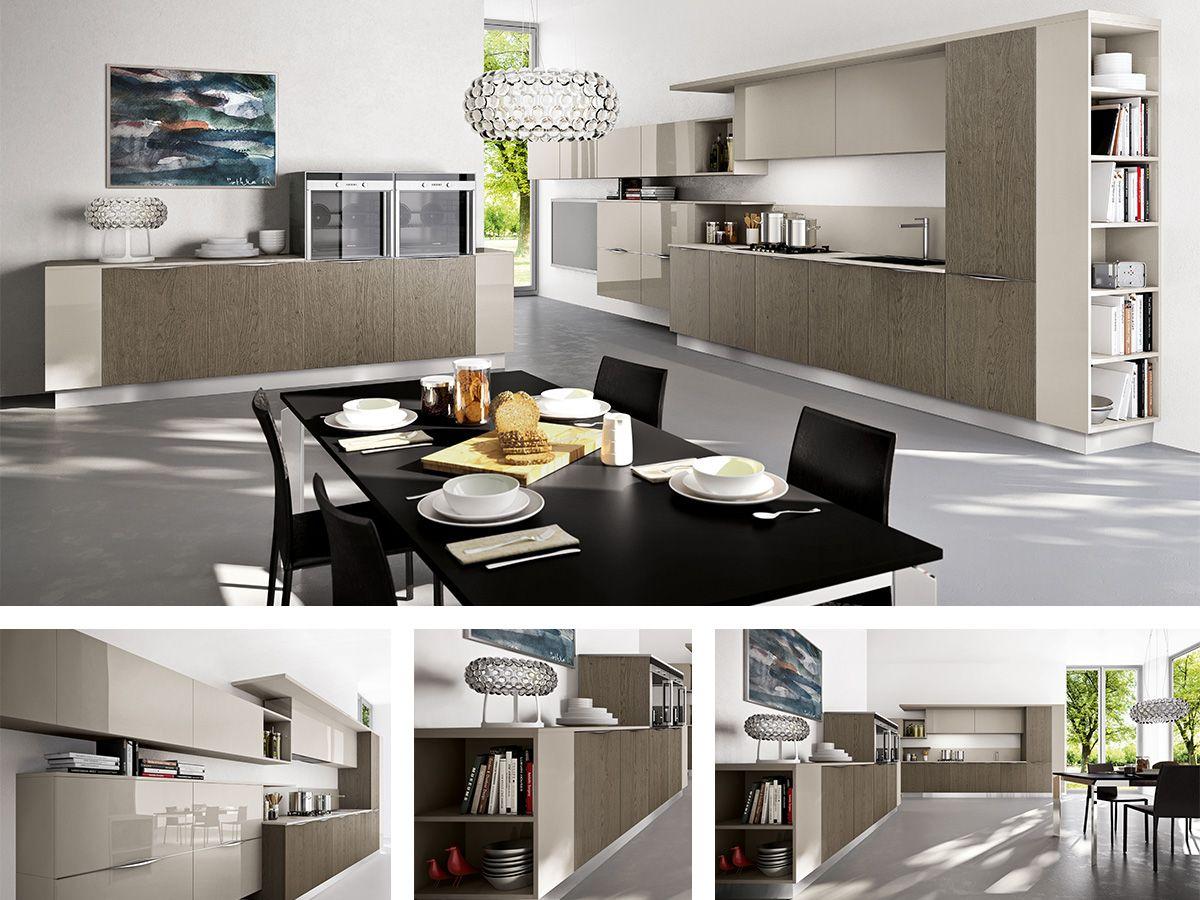 CUCINA GIORGIA Cucina angolare moderna composta da colonne, cassetti ...