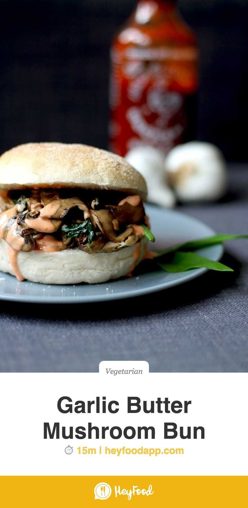 Garlic Butter Mushroom Bun  These garlic butter mushroom buns are great for every meal, be it breakfast, lunch or dinner, so make sure you make 'shroom for them on your table!    Recipe credit: Cake and Whisky