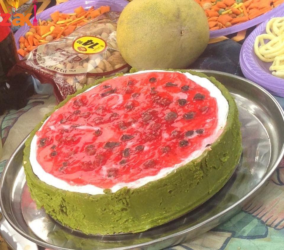 تشيز كيك البطيخ لمحبي الأكلات الإبداااعية تحية للمبدع اللي هيكتب زاكي في تعليق زاكي Desserts Food Yummy