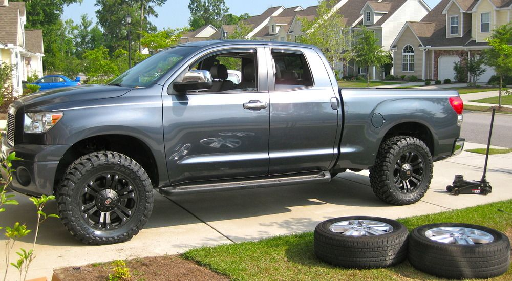 20 Black Xd Monster Xd778 Wheels And Toyo Open Country Mt Tires On A 2007 Toyota Tundra Mrwheeldeal Com 2007 Toyota Tundra Toyota Tundra Toyota Tundra Sr5